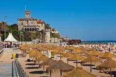 Escúdese una playa Estoril Fotografía de archivo libre de regalías