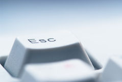 Esc button on computer keyboard Stock Image