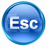 Esc icon blue Royalty Free Stock Photography