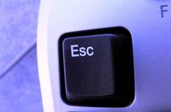 Esc key. Blue tip esc key close up royalty free stock photo