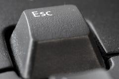 ESC key. ESC on a black keyboard Royalty Free Stock Photo