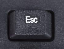 Esc-knapp på tangentbordet av datoren Arkivbilder