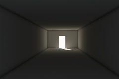 Esca da stanza scura Immagine Stock