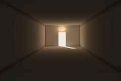Esca da stanza scura Immagini Stock