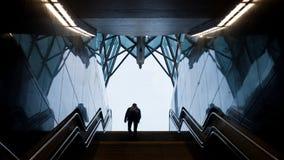 Esca dalla metropolitana Immagine Stock Libera da Diritti