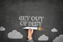Esca del concetto di debito Fotografia Stock Libera da Diritti