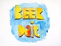 Esca della birra Immagine Stock