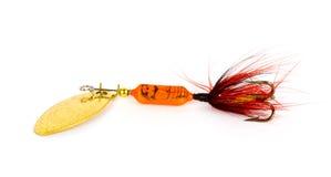 Esca di pesca. immagine stock