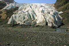 Esca il ghiacciaio, Alaska Fotografie Stock Libere da Diritti