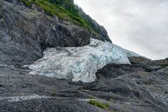 Esca il ghiacciaio in Seward nell'Alaska Stati Uniti d'America Fotografia Stock Libera da Diritti