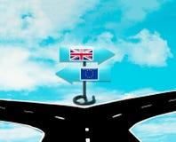 Esca il Regno Unito dall'UE Fotografia Stock Libera da Diritti