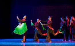 Esca nella danza popolare di simsii-cinese del anteriore-rododendro Fotografie Stock Libere da Diritti