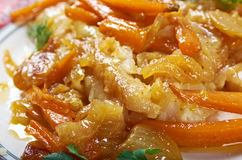 Escabeche  or fried fish Stock Image