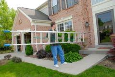 Escada acessível do homem Fotografia de Stock