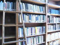 Escada & biblioteca Imagens de Stock Royalty Free