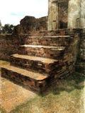 Escada antiga Foto de Stock Royalty Free
