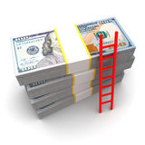 escada ao dinheiro Fotos de Stock Royalty Free
