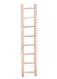 Escada bege de madeira isolada Imagens de Stock Royalty Free