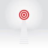 Escada branca até o sucesso do alvo Imagem de Stock