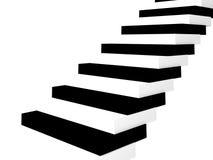 A Escada-chave no branco. ilustração royalty free