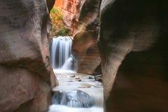 Escada da cachoeira no entalhe Foto de Stock