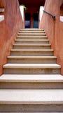 Escada da construção de casa velha Foto de Stock