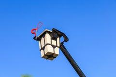 Escada da cubeta de fogo para o sapador-bombeiro Fotografia de Stock