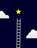 Escada da estrela Imagem de Stock