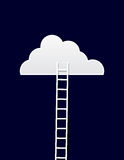 Escada da nuvem Fotos de Stock Royalty Free