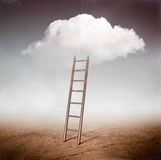 Escada da nuvem fotos de stock