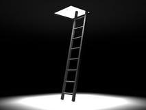 Escada da obscuridade ao conceito de light.success. ilustração do vetor