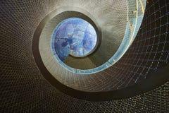 Escada da rotação à galáxia imagens de stock