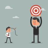 Escada de escalada do homem de negócios ao sucesso motivation Imagens de Stock Royalty Free