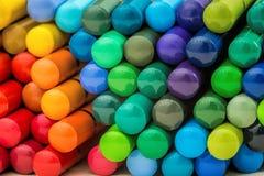 Escada de lápis do arco-íris Fotos de Stock Royalty Free