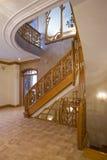 Escada de madeira. Imagem de Stock