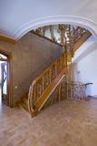 Escada de madeira. Imagens de Stock