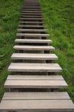 A escada de madeira Fotografia de Stock