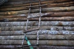 Escada de madeira Foto de Stock