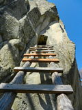 Escada de madeira ao eremitério Fotografia de Stock Royalty Free