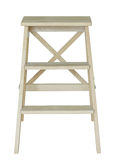 Escada de madeira isolada no branco Foto de Stock