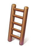 Escada de madeira pequena Imagem de Stock