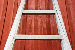 Escada de madeira rústica Fotos de Stock