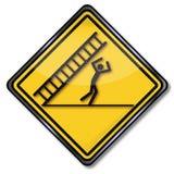 Escada de queda e infortúnio do cuidado Fotografia de Stock Royalty Free