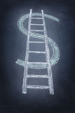 Escada do dólar Imagens de Stock Royalty Free