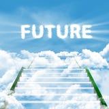 Escada do futuro imagem de stock