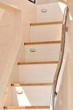 Escada do iate com o trilho na sombra Fotografia de Stock