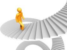 Escada do sucesso Imagens de Stock