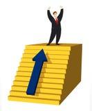 Escada do sucesso ilustração stock