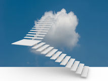 A escada do sucesso ilustração 3D Imagens de Stock