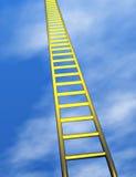 Escada dourada no céu Imagem de Stock Royalty Free